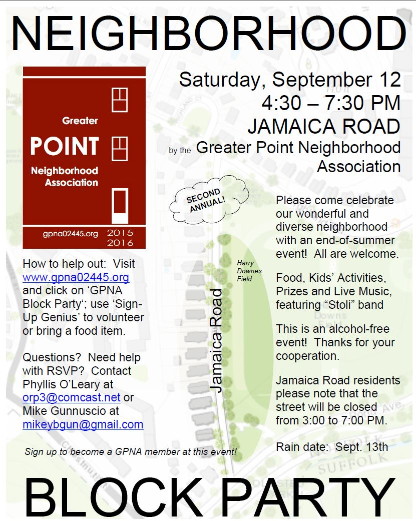annual gpna block party september 12 2015 greater point neighborhood association. Black Bedroom Furniture Sets. Home Design Ideas